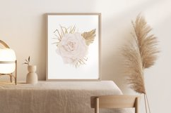 Boho rose printable, Watercolor rose wall print Product Image 3