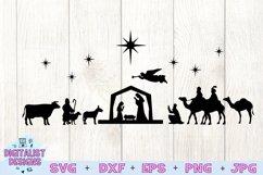 Nativity Scene SVG | Nativity SVG | Christmas SVG Product Image 3