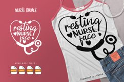 Resting Nurse Face   Lettering Quotes Product Image 1