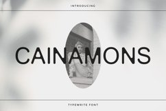 Cainamons - Vintage Font DR Product Image 1