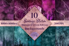 Savage Storm Maroon and Green Edition Backgrounds Set Product Image 1