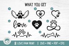 Paw Print SVG Cut Files - Love Dog Paw SVG Bundle Product Image 2