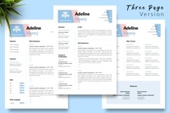Nurse Resume CV Template for Word & Pages Adeline Henry Product Image 4