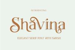 Shavina Serif Font with beauty swash and alternate Product Image 4