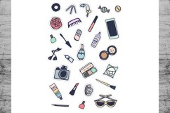 Fashion Stickers and Cliparts Vector SVG PNG Product Image 4