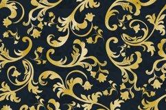 42 Gold Foil Seamless Damask Ornament Transparent Overlays Product Image 4