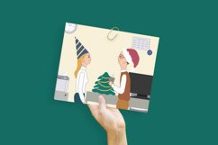 Christmas and New Year celebration in the office cards Product Image 3