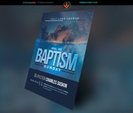 Baptism Sunday Church Flyer Template Product Image 2
