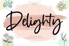 Delighty Modern Handwritten Font Product Image 1