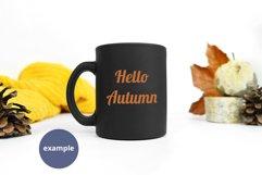 Autumn Black mug mockup full wrap PSD, Minimalist mug mockup Product Image 3