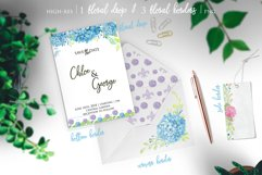 Watercolor Hydrangea Floral Clipart Product Image 2