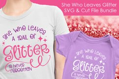 She Who Leaves Glitter - SVG and Cut Files for Crafters Product Image 3