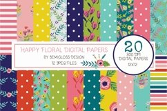 Bright Floral Digital Paper Product Image 1