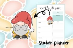 Gnome clipart, gnome png, sublimation, sticker planner Product Image 4