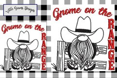 Cowboy Gnome Toilet Paper Towel Embroidery Design Product Image 3