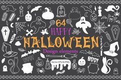 Halloween Doodle Vector clipart Product Image 1