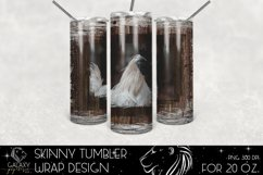 Rooster Farm Life 20 Oz. Skinny Tumbler Wrap Sublimation Des Product Image 1