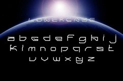 Hello Space Futuristic Display Font Product Image 4