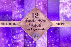 Purple-Blue Bokeh Backgrounds - 12 Image Textures Set Product Image 1
