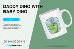 Daddy Dino Carries Baby Dino Vector Illustration For T-Shirt Product Image 2