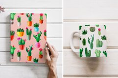 Watercolor Cactus. Cacti Patterns Product Image 5