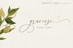 Simplicity Angela - Calligraphy Font Product Image 5