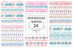 Norwegian Winter: Seamless Patterns Product Image 3