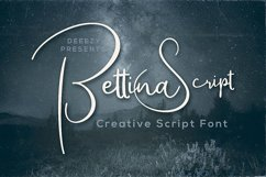 Bettina Script Font Product Image 1