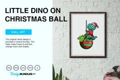 Little Dino on Christmas Ball Vector Illustration Product Image 5