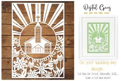 Wedding paper cut SVG / DXF / EPS / PNG files Product Image 1