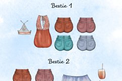 Boho besties - Customizable best friends clipart Product Image 3