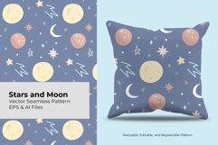 Stars and Moon | Seamless Pattern Product Image 1