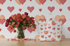 Hand drawn valentines seamless patterns png set Product Image 7