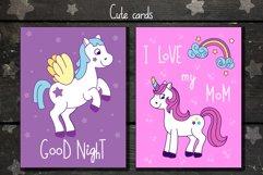 Unicorns vector set and alphabet bonus Product Image 2