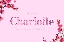 Web Font Charlotte - Crafted Display Font Product Image 1