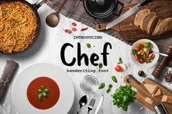 Chef handwritten brush font Product Image 1