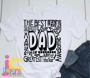 Dad SVG, Father's Day SVG, typography word art Svg, Eps, Dxf Product Image 2
