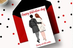 Couples Clpart Elegant man and women Valentines Clipart Png Product Image 2