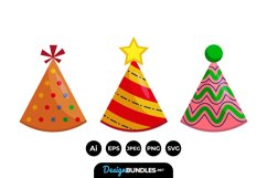Party Hat Clipart Product Image 1