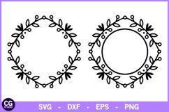2 Tribal monogram frames SVG Product Image 1
