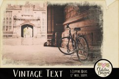 Grunge Clipping Masks - Vintage Text Photoshop Masks & Tutor Product Image 4