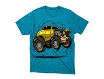 angry hotrod tshirt design Product Image 2