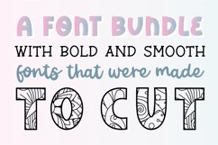 PERFECTLY CUT FONT BUNDLE - Bold Cuttable Fonts for Crafters Product Image 2