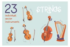 Orchestra! Set of vector musical instruments Product Image 2