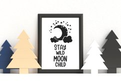 Stay wild moon child svg Moon and stars svg files for cricut Product Image 5