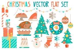 Christmas vector flat set Product Image 1