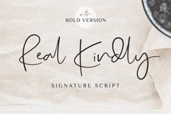 Real Kindly - Elegant Script Product Image 1