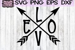 Valentine - Love - Love Arrows SVG PNG DXF EPS Product Image 1