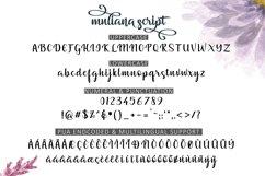 Muliana Script Font Product Image 2