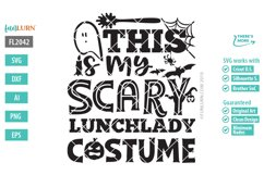 This is My Scary Lunch Lady Costume SVG Cut File Product Image 2